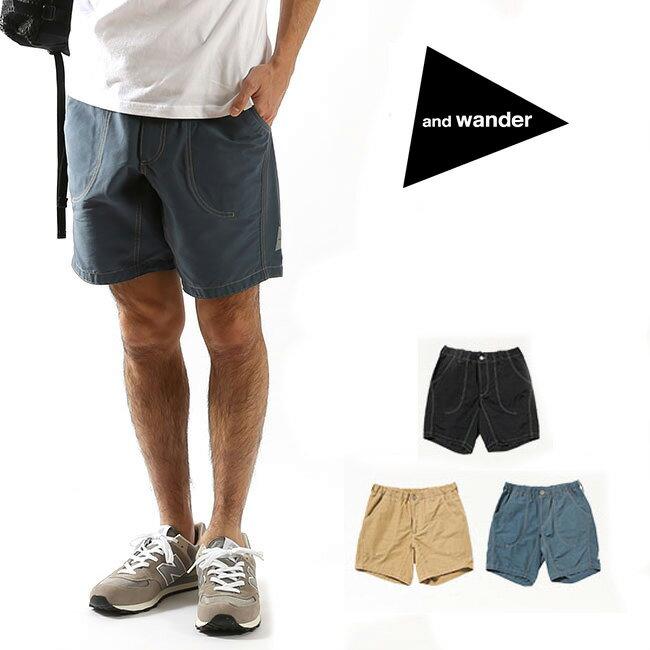 アンドワンダー 60/40 クロスショートパンツ and wander 60/40 cloth short pants ボトムス パンツ 短パン ショートパンツ メンズ レディース AW-FF903