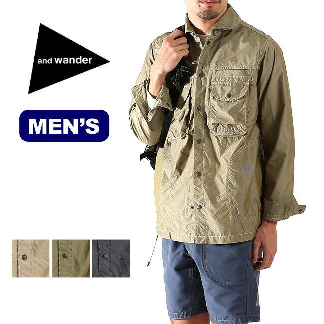 アンドワンダー ドライ タイプライター シャツ ジャケット メンズ【送料無料】 トップス 長袖 ジャケット 上着 アウター【CP07】
