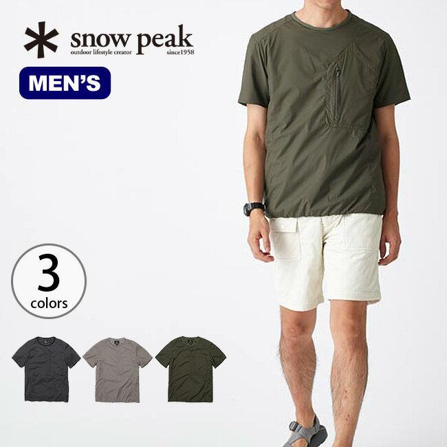 snow peak スノーピーク 2レイヤーオクタインサレーションハーフスリーブ メンズ ウェア インサレーション 半袖 インナー 中間着 防寒 保温 断熱 速乾 オクタ