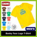 チャムス チャムスブービーフェイスロゴ Tシャツ
