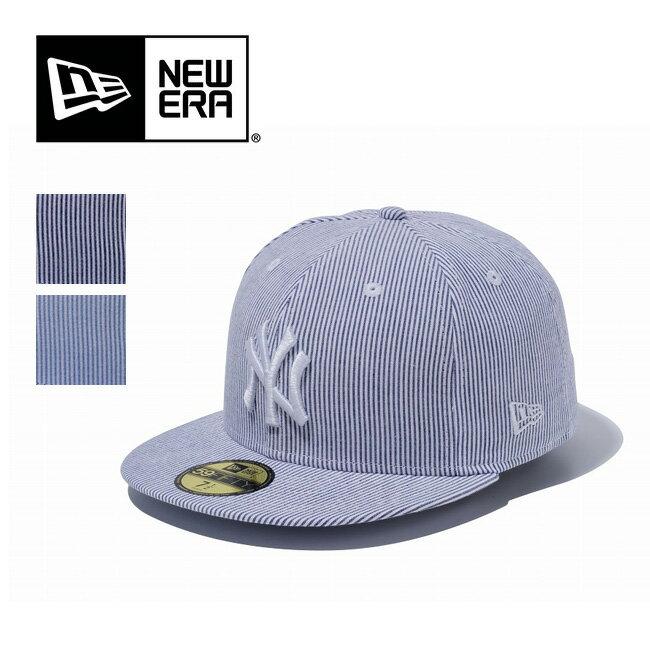 ニューエラ 59FIFTY ニューヨークヤンキース シアサッカー 帽子 ハット 野球帽 ぼうし トラベル 旅行 アウトドア メンズ レディース 登山 キャンプ フェス