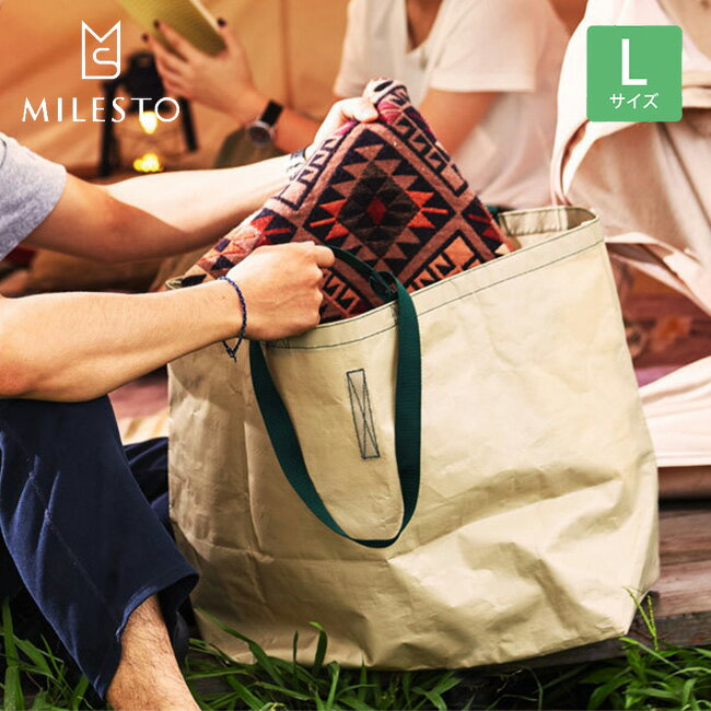 ミレスト MILESTO ユーティリティー PEトートバッグL 鞄 バッグ トート トートバッグ ランドリーバッグ マチ付き ギア 収納 PEシリーズ MLS517 17FW