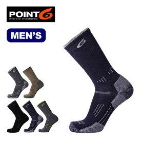 ポイントシックス ハイキングエッセンシャルミディアムクルー POINT6 HIking Essencial MediumCrew メンズ 靴下 ソックス ハイキング トレッキング ポイント6 <2018 春夏>