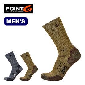 ポイントシックス ブーツミディアムミッドカーフ POINT6 Boots Medium Mid Calf メンズ 靴下 ソックス ハイキング トレッキング アウトドア タウンユース メリノウール ポイント6 17FW