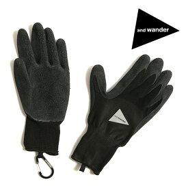 アンドワンダー ラバーグローブ and wander rubber glove 手袋 グローブ <2019 春夏>