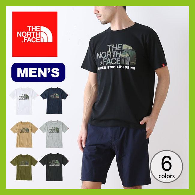 【5%OFF】ノースフェイス カモフラージュロゴティー THE NORTH FACE S/S Camouflage Logo Tee メンズ トップス Tシャツ 半袖 ショートスリーブ <2018 春夏>