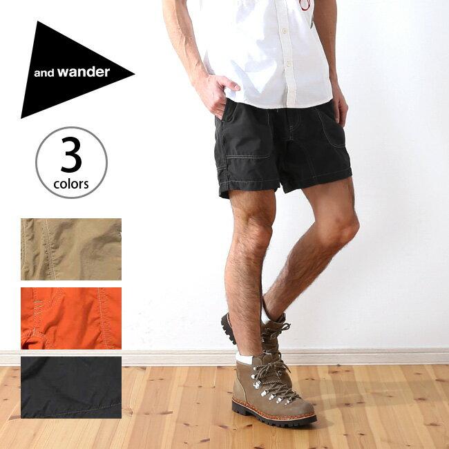 アンドワンダー ナイロンクライミングショートパンツ and wander nylon climbing short pants メンズ レディース ユニセックス パンツ ショートパンツ クライミングパンツ ボトムス <2018 春夏>