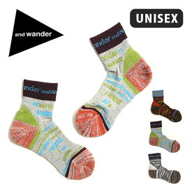 アンドワンダー アンドワンダーソックス and wander and wander socks メンズ レディース ユニセックス 靴下 くつ下 ソックス フットウェア AW-AA779 <2019 春夏>