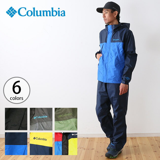 コロンビア シンプソンサンクチュアリレインスーツ Columbia Simpson Sanctuary Rainsuit メンズ レインウェア 雨具 レインジャケット レインパンツ 上下セット <2018 秋冬>