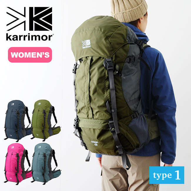 カリマー リッジ40 タイプ1 karrimor ridge 40 type1 バックパック ザック リュック リュックサック 登山リュック 女性用 レディース 40L <2018 春夏>