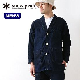 【キャッシュレス 5%還元対象】スノーピーク ノラギジャケット snow peak Noragi Jacket ウェア アウター ジャケット 上着 野良着 デニム メンズ 男性 <2019 春夏>