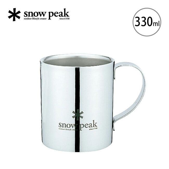 スノーピーク スノーピークロゴ ダブルマグ 330 snow peak Snow Peak Logo Double Wall Cup 330 食器・カトラリー <2018 春夏>