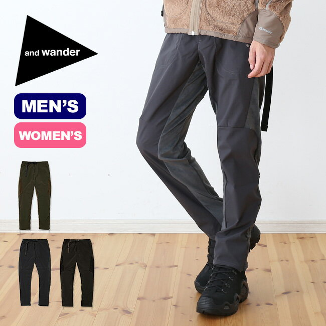 アンドワンダー フリースベースパンツ and wander fleece base pants メンズ レディース パンツ ロングパンツ ボトムス フリースパンツ <2018 秋冬>