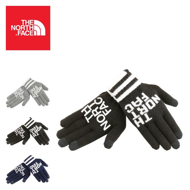 ノースフェイス ビッグロゴイーニットグローブ THE NORTH FACE Big Logo E-Knit Glove グローブ 手袋 <2018 秋冬>