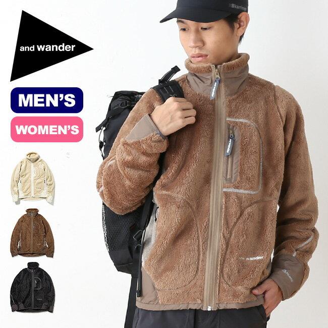 アンドワンダー ハイロフトフリースジャケット and wander high loft fleece jacket メンズ ジャケット フリースジャケット アウター <2018 秋冬>