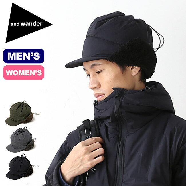 アンドワンダー プリマロフトキャップ and wander PRIMALOFT cap メンズ レディース 帽子 キャップ 耳あて <2018 秋冬>