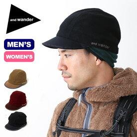 アンドワンダー エアーウールキャップ and wander air wool cap メンズ レディース 帽子 キャップ ウールキャップ sp18fw