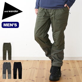 アンドワンダー トップフリースパンツ and wander top fleece pants メンズ パンツ ロングパンツ ボトムス フリースパンツ <2018 秋冬>