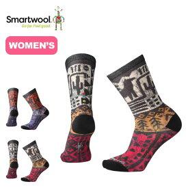 スマートウール 【ウィメンズ】ブロックプリントクルー Smartwool Block Curated Crew Socks レディース ソックス 靴下 <2018 秋冬>