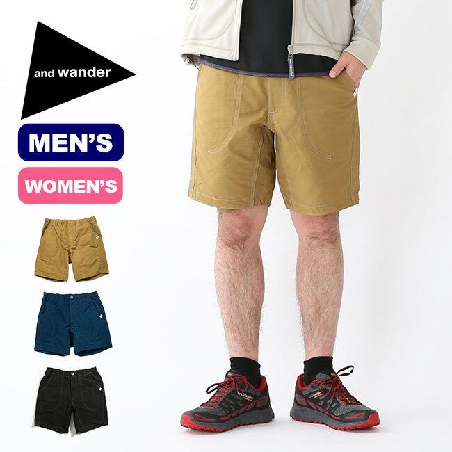 アンドワンダー 60/40 クロスショートパンツ and wander 60/40 cloth short pants ボトムス パンツ ショートパンツ 短パン ハーフパンツ メンズ レディース AW91-FF903 <2019 春夏>