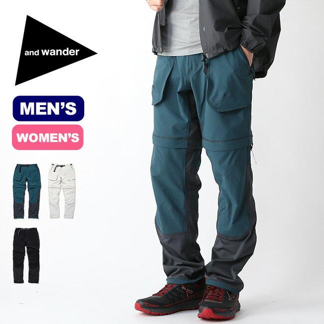 アンドワンダー トレック2ウェイパンツ and wander trek 2way pants メンズ レディース パンツ ボトムス ショートパンツ ロングパンツ ハーフパンツ 2WAYパンツ AW91-FF012 <2019 春夏>