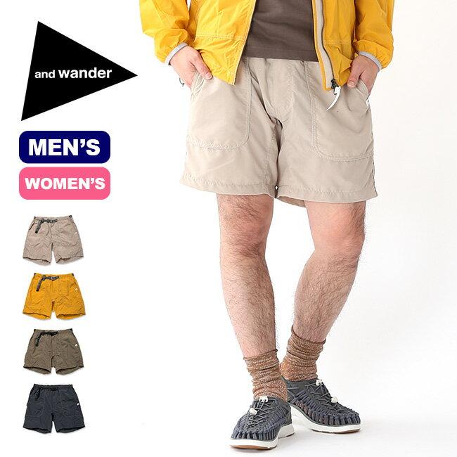 アンドワンダー ナイロンクライミングショートパンツ and wander nylon climbing short pants メンズ レディース パンツ ショートパンツ 半パン ハーフパンツ ボトムス <2019 春夏>