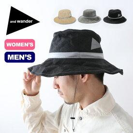 アンドワンダー ペーパークロスハット and wander paper cloth hat メンズ ウィメンズ 帽子 ハット AW91-AA631 <2019 春夏>