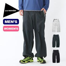 アンドワンダー ベントパンツ and wander vent pants ボトムス パンツ ロングパンツ メンズ レディース AW91-FF039 <2019 春夏>