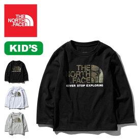 ノースフェイス L/S カモロゴTee【キッズ】 THE NORTH FACE L/S Camo Logo Tee Kid's Tシャツ ロングスリーブ 長袖 子供用 NTJ81824 <2019 春夏>