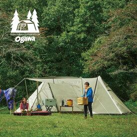 オガワ ツインピルツフォーク T/C ogawa Twin Pilz Fork T/C シェルター テント 2ポールテント ポリエステルコットン 3345 アウトドア 【正規品】