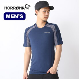 ノローナ ビィティフォーン ウールTシャツ メンズ Norrona bitihorn wool T-shirt Tシャツ 半袖 トップス ベースレイヤー 2615-18 <2019春夏>