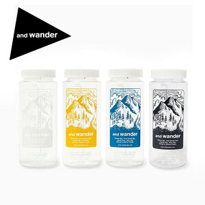アンドワンダー アンドワンダーナルゲンボトル and wander nalgene bottle 5741977005 広口 0.65L クリアボトル 水筒 給水 補給食 デザイン キャンプ アウトドア フェス【正規品】