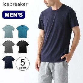 アイスブレーカー メンズ テックライトSSクルー Icebreaker TECH LITE SS CREWE (Men's) トップスカットソー Tシャツ 半袖 ショートスリーブT メンズ IT21800 <2019 春夏>
