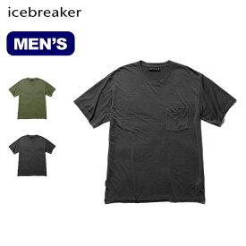 アイスブレーカー メンズ ネイチャーダイドSSポケットクルー Icebreaker Men's NATURE DYED SS POCKET CREWE メンズ ショートスリーブ 半袖 ファーストレイヤー IT21870 <2019 春夏>