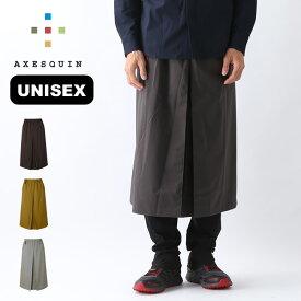 【キャッシュレス 5%還元対象】アクシーズクイン アメノスカート AXESQUIN ユニセックス RS1428 ボトムス 雨のスカート 凌ぎ シノギング <2019 春夏>