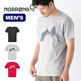 ノローナ /29 コットンストレッチTシャツ メンズ Norrona /29 cotton stretch T-Shirt (M) Tシャツ トップス 半袖 ロゴ 3415-19 <2019 春夏>