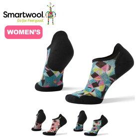 【キャッシュレス 5%還元対象】スマートウール 【ウィメンズ】PhDランライトエリートプリントマイクロ Smartwool Women's PhD® Run Light Elite Print Micro Socks レディース 靴下 ソックス <2019 春夏>