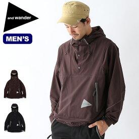 アンドワンダー ナイロンダブルクロスフーディ and wander nylon double cloth hoodie メンズ フーディ プルオーバー アウター AW93-FT014 <2019 秋冬>