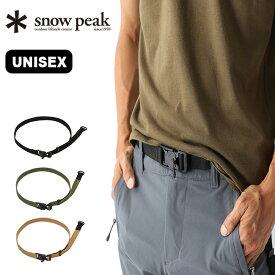 スノーピーク クイックアジャストベルト snow peak Quick Adjustment Belt メンズ レディース ユニセックス ベルト 小物 <2019 秋冬>