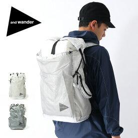 アンドワンダー キューベンファイバーバックパック and wander cuben fiber backpack AW-AA930 鞄 ザック リュックサック ロールトップ シワ感 経年変化 軽量 丈夫 透過 <2019 秋冬>