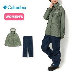 コロンビア シンプソンサンクチュアリ【ウィメンズ】レインスーツ Columbia Simpson Sanctuary Women's Rainsuit PL0125 レディース レインスーツ 上下セット <2019 秋冬>