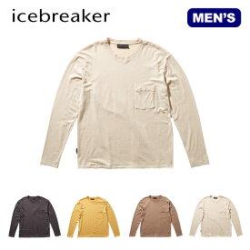 アイスブレーカー メンズ ネイチャーダイドLSポケットクルー Icebreaker Men's NATURE DYED LS POCKET CREWE IT61972 ロングスリーブ ロンT 長袖アウトドア 【正規品】