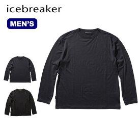 アイスブレーカー メンズ オアシスLSジーアイクルー Icebreaker Men's OASIS LS GI CREWE IT61970 ロングスリーブ 長袖 ロンT<2019 秋冬>