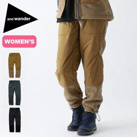 アンドワンダー トップフリースパンツ 【ウィメンズ】 and wander top fleece pants レディース パンツ ロングパンツ ボトムス フリースパンツ AW93-JF639 <2019 秋冬>