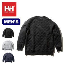 【キャッシュレス 5%還元対象】 ヘリーハンセン キルトクルーHELLY HANSEN Quilt Crew メンズ HOE31961 トップス プルオーバー キルトスウェット <2019 秋冬>