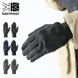 karrimor wool logo glove カリマー ウールロゴグローブ 手袋 グローブ ウール 防寒具 アウトドア <2019 秋冬>