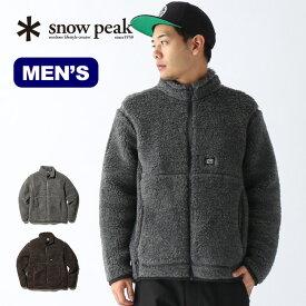 スノーピーク ウールフリースジャケット snow peak Wool Fleece Jacket メンズ JK-19AU116 ウェア フリース アウター トップス ウール <2019 秋冬>