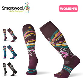Smartwool Women's PhD Ski Medium Pattern Socks スマートウール ウィメンズ PhDスキーミディアムパターン 靴下 ソックス ロングソックス レディース