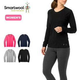 スマートウール 【ウィメンズ】メリノ150ベースレイヤーロングスリーブ Smartwool Women's Merino 150 Baselayer Long Sleeve SW64205 アンダーウェア 長袖シャツ <2020 春夏>