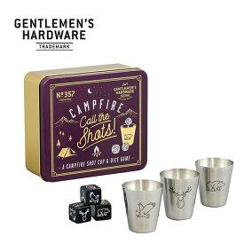 ジェントルマンハードウェア キャンプファイアコールザショット ショットカップ&ダイスゲーム Gentlemen's Hardware Campfire Call The Shots GEN357 キャンプ 遊び道具 アウトドア 【正規品】